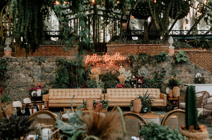 Decoração do lounge casamento na fazenda - Cheers