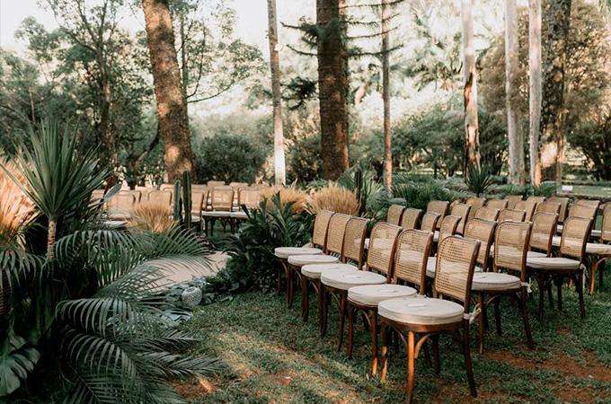 Decoração área para cerimônia casamento na fazenda - Cheers