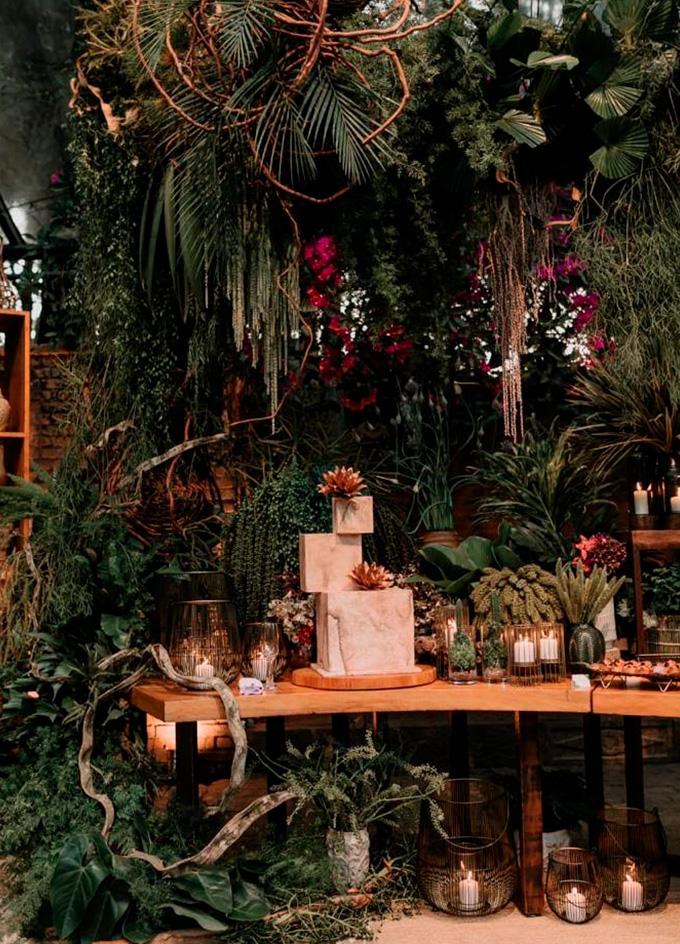 Decoração mesa de casamento na fazenda - Cheers