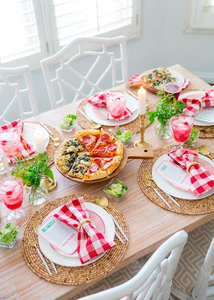 Festa em casa mesa decorada Cheers