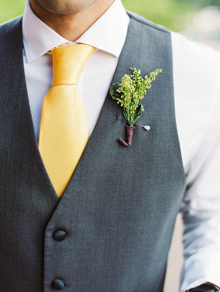 gravata amarela para o noivo cheers
