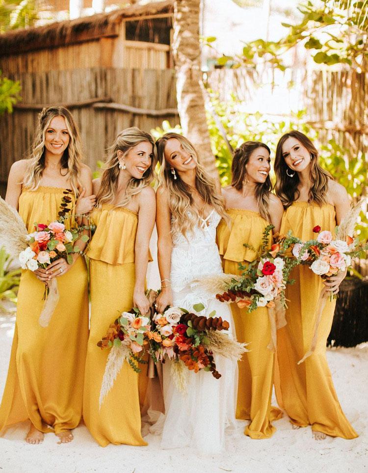 vestido amarelo para madrinhas cheers