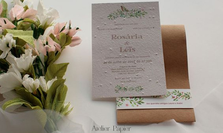 Casamento sustentável: Atelier Papier - Cheers