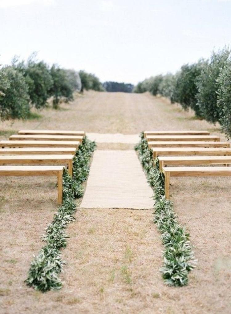 caminho do altar casamento minimalista cheers