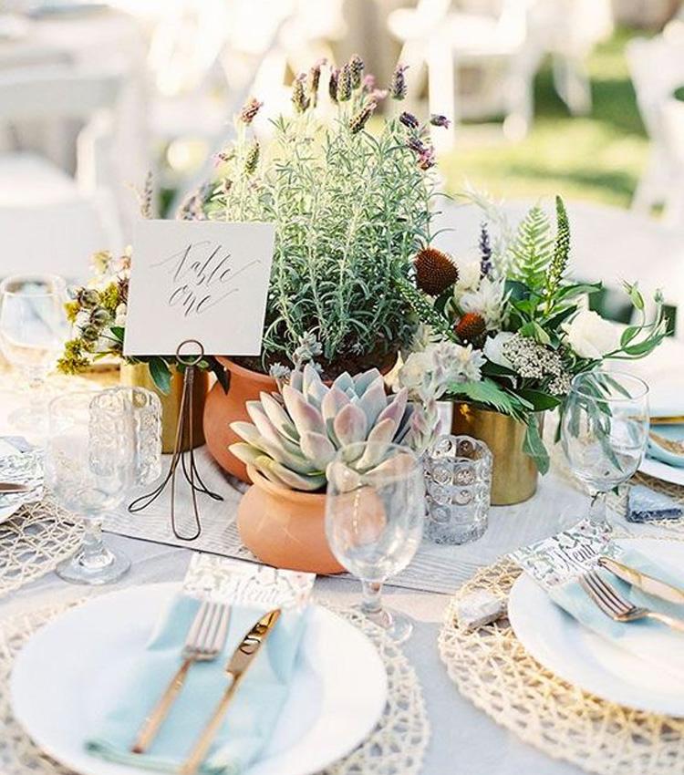 decoração de mesa sustentável
